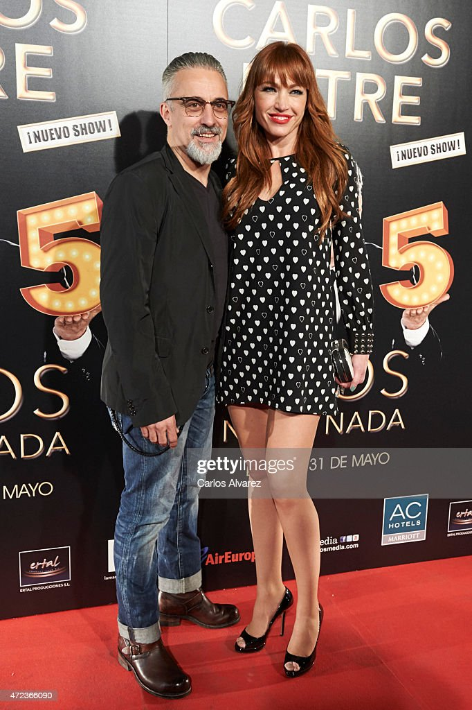 Spanish chef Sergi Arola and model Silvia Fominaya attend '15 Anos no es Nada' premiere at the Compac theater on May 6 2015 in Madrid Spain