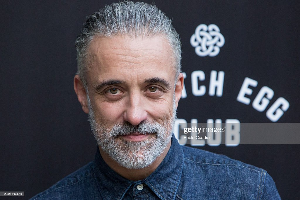 Spanish chef Sergi Arola attends the Dewar's Scotch Egg Club opening party at the Real Fabrica de Tapices on July 6 2016 in Madrid Spain