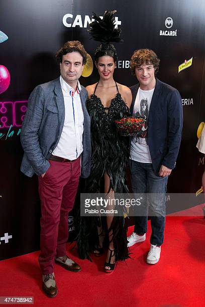 Spanish chefs Jordi Cruz and Pepe Rodriguez attend the 'Pacha' premiere at Capitol Cinema on May 25 2015 in Madrid Spain