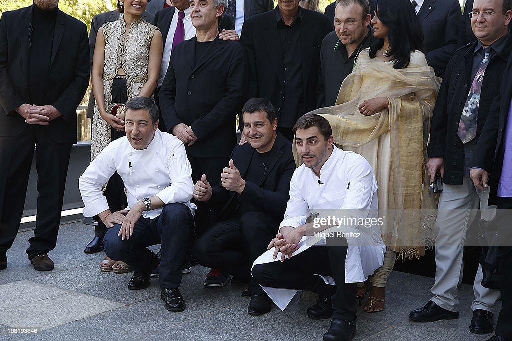 Spanish chefs of 'El Celler de Can Roca' <a gi-track='captionPersonalityLinkClicked' href=/galleries/search?phrase=Joan+Roca&family=editorial&specificpeople=4260705 ng-click='$event.stopPropagation()'>Joan Roca</a>, Josep Roca and Joerdi Roca attend 'El Somni', 'The Dream' Gastronimic Opera Performance on May 6, 2013 in Barcelona, Spain.