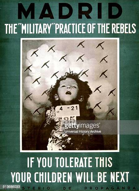 Spanish civil war propaganda poster titled 'If you tolerate this your children will be next' Dated 1936