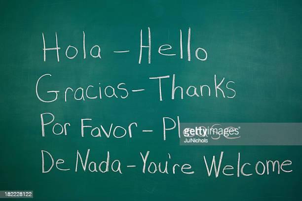 Spanish Class Chalkboard