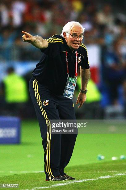 Spanish coach Luis Aragones during the UEFA EURO 2008 Final match between Germany and Spain at Ernst Happel Stadion on June 29 2008 in Vienna Austria