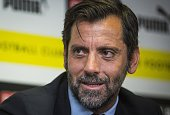 Spanish coach Quique Sanchez Flores takes part in a press conference as he is unveiled as the new Watford coach at Vicarage Road Stadium in Watford...