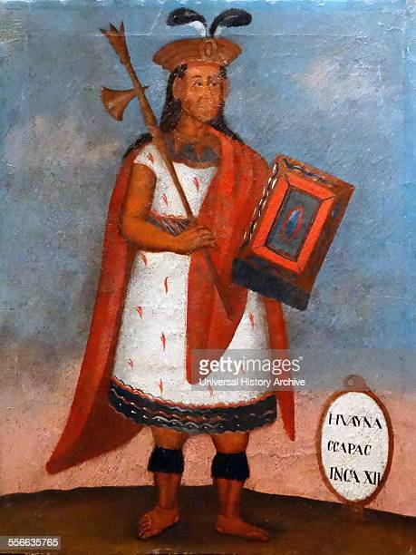 Spanish colonial portrait of the Inca King Huayna Capac the eleventh Sapa Inca of the Inca Empire and sixth of the Hanan dynasty