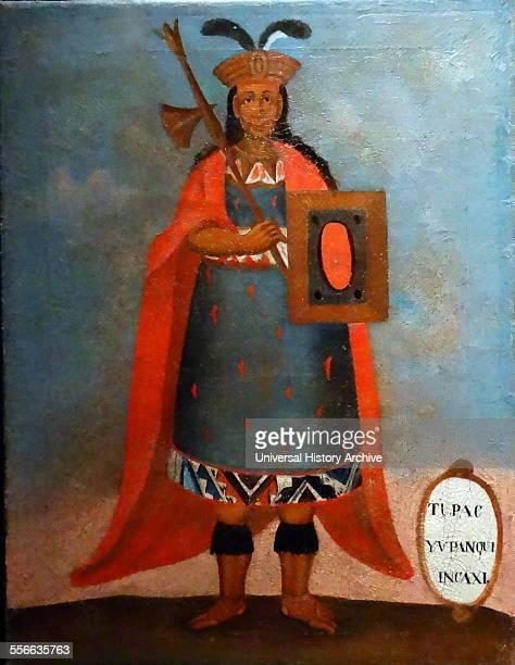 Spanish colonial portrait of the Inca King Tupac Yupanqui the tenth Sapa Inca