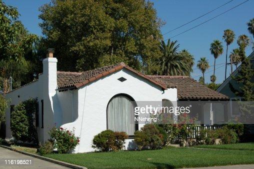 Spanish colonial revival bungalow