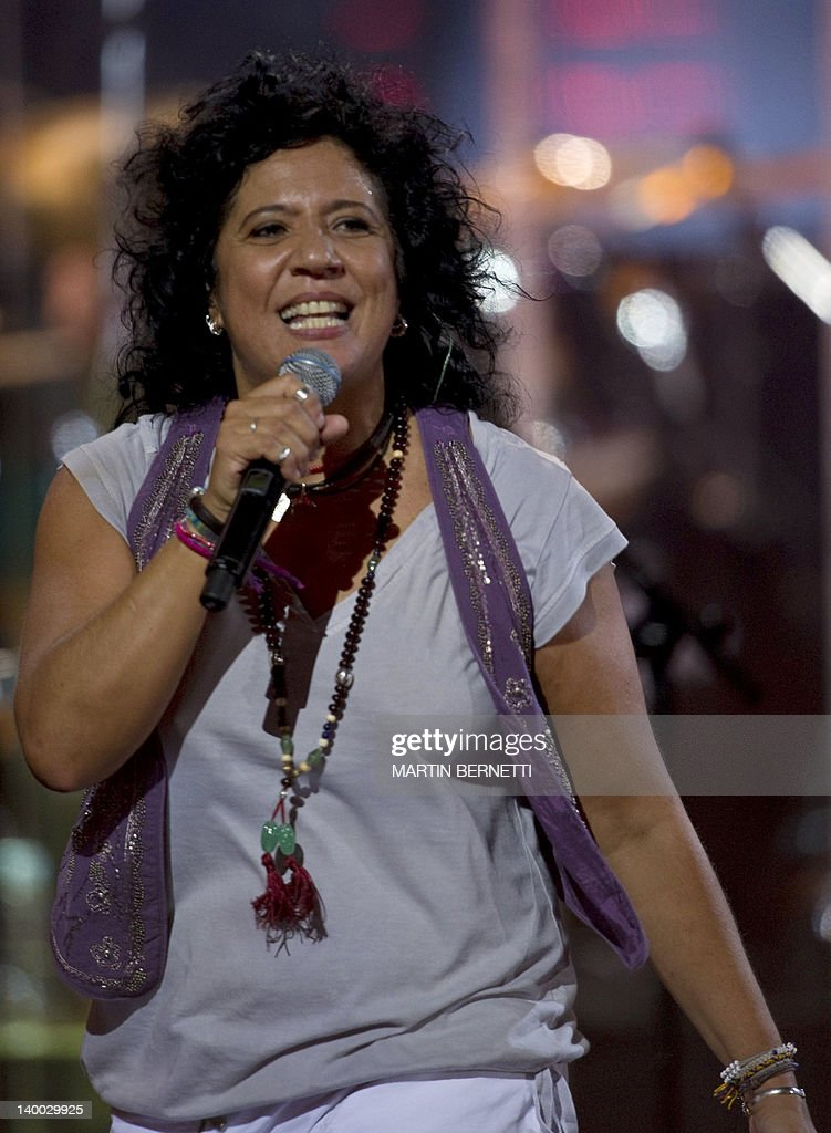 Spanish composer and singer Rossana preforms during the 53nd Vina del Mar International Song Festival on February 26, 2012 in Vina del Mar, Chile.