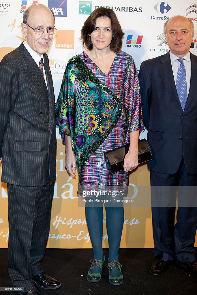 Spanish Culture Minister Angeles Gonzalez Sinde attends 'Prix del Dialogo' Award on November 14 2011 in Madrid Spain