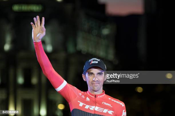 Spanish cyclist Alberto Contador of Trek during the last stage of Spain's Cycling Tour Madrid Spain 10 September 2017