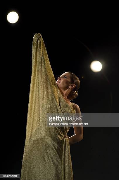 Spanish dancer Sara Baras on set filming 'Freixenet' cava spot on November 30 2011 in Madrid Spain