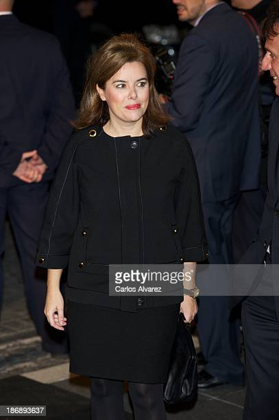 Spanish Deputy Prime Minister Soraya Saenz de Santamaria attends 'La Razon' Newspaper 15th Anniversary on November 4 2013 in Madrid Spain