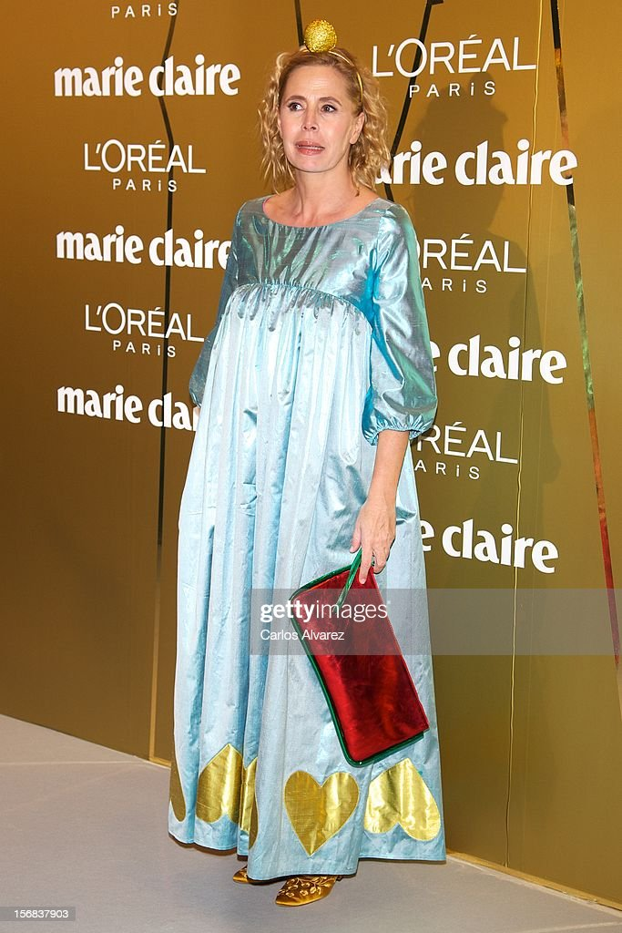 Spanish designer Agatha Ruiz de la Prada attends Marie Claire Prix de la Moda Awards 2012 at the French Embassy on November 22, 2012 in Madrid, Spain.