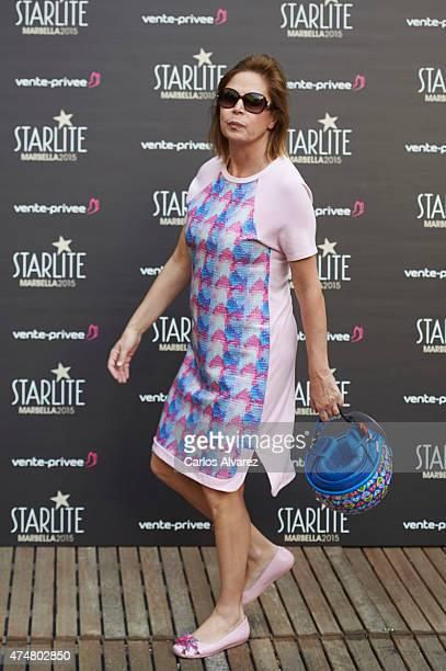 Spanish designer Agatha Ruiz de la Prada attends the 'Pure Starlite' party presentation at the Hotel Puro on May 26 2015 in Madrid Spain