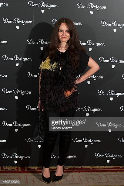 Spanish designer Ana Locking attends Dom Perignon party at the Duarte Palace on December 9 2014 in Madrid Spain