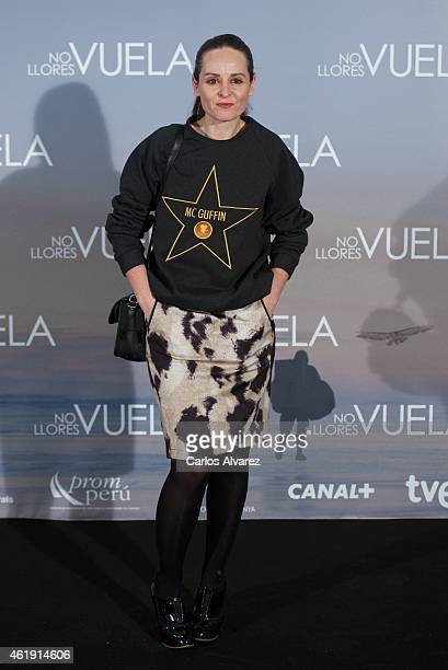Spanish designer Ana Locking attends 'No Llores Vuela' premiere at the Callao cinema on January 21 2015 in Madrid Spain