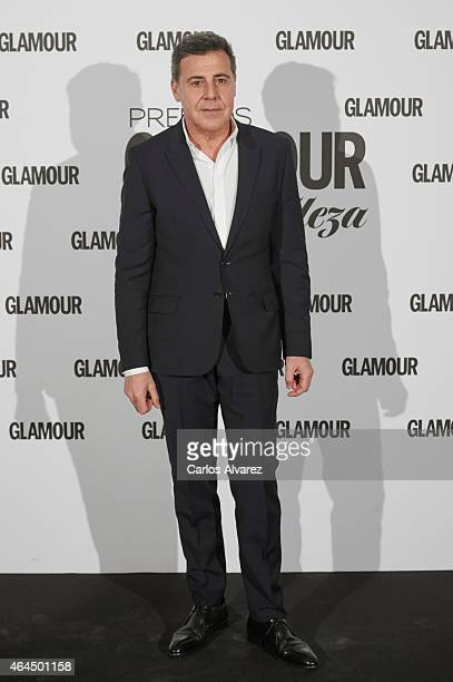 Spanish designer Angel Schlesser attends the 'Glamour Beauty' magazine awards at the Palace hotel on February 26 2015 in Madrid Spain