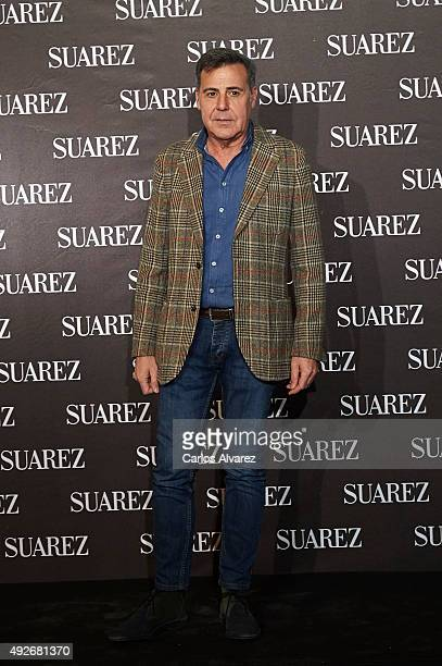 Spanish designer Angel Schlesser attends the new Suarez Jewelry Boutique on October 14 2015 in Madrid Spain