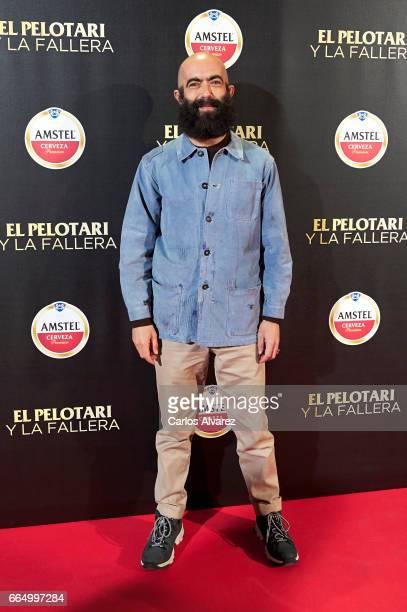 Spanish designer Carlos Diez attends 'El Pelotari Y La Fallera' premiere at the Callao cinema on April 5 2017 in Madrid Spain