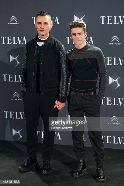 Spanish designer David Delfin and Pelayo Diaz Zapico attend the Telva Magazine Fashion Awards 2013 at the Palacio de Cibeles on December 2 2013 in...