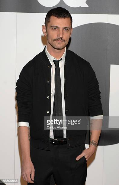 Spanish designer David Delfin attends the GQ Magazine Awards ceremony on November 29 2005 at Hotel Palace in Madrid Spain