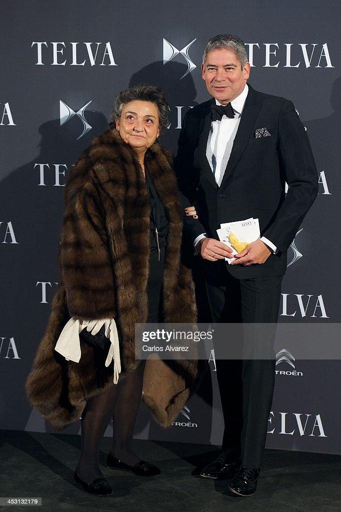 Spanish designer Elena Benarroch and Boris Izaguirre attend the Telva Magazine Fashion Awards 2013 at the Palacio de Cibeles on December 2 2013 in...
