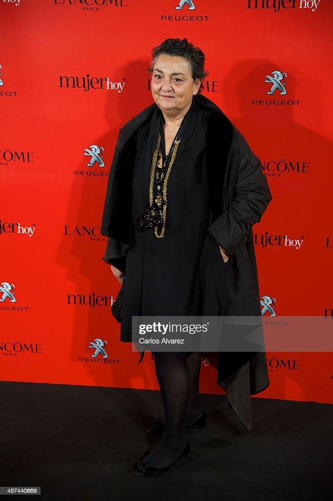 Spanish designer Elena Benarroch attends the 'Mujer de Hoy' awards 2013 at the Hotel Palace on December 17 2013 in Madrid Spain
