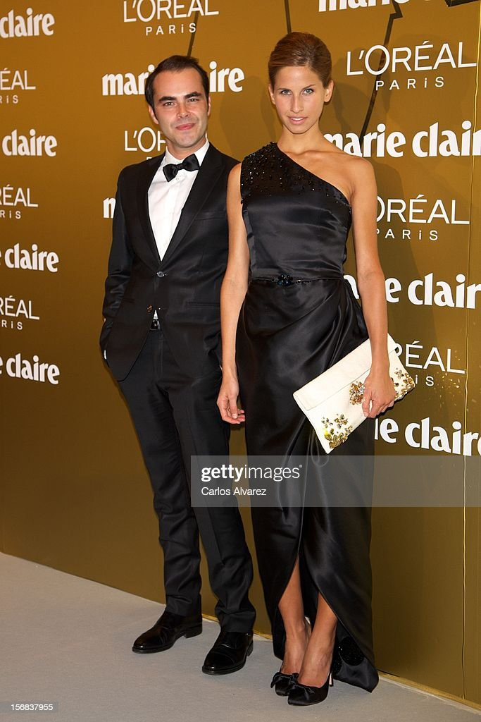 Spanish designer Ion Fiz (L) attends Marie Claire Prix de la Moda Awards 2012 at the French Embassy on November 22, 2012 in Madrid, Spain.