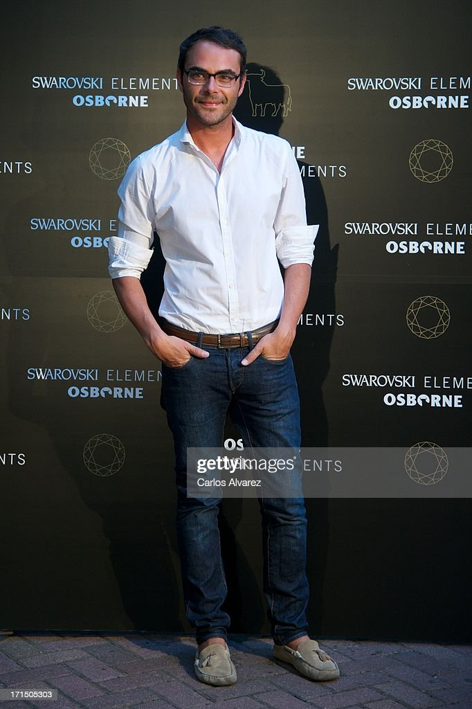 Spanish designer Ion Fiz attends Swarovski-Osborne Bull illumination at the Casa America on June 25, 2013 in Madrid, Spain.