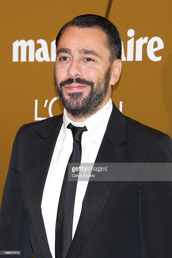Spanish designer Juanjo Oliva attends Marie Claire Prix de la Moda Awards 2012 at the French Embassy on November 22, 2012 in Madrid, Spain.