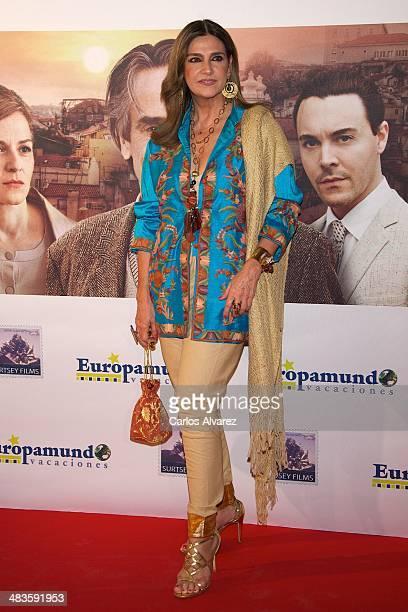 Spanish designer Marina Danko attends the 'Night Train to Lisbon' premiere at the Palafox cinema on April 9 2014 in Madrid Spain