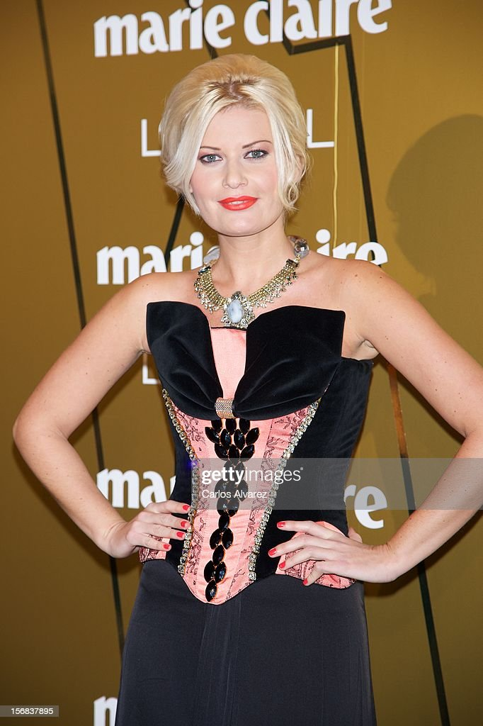 Spanish designer Maya Hansen attends Marie Claire Prix de la Moda Awards 2012 at the French Embassy on November 22, 2012 in Madrid, Spain.