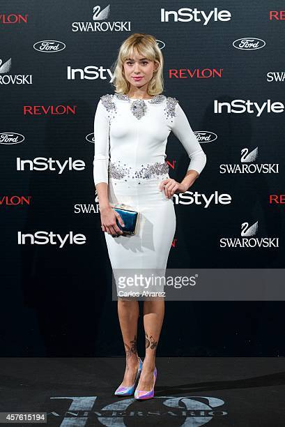 Spanish designer Miranda Makaroff attends the In Style Magazine 10th Anniversary party at the Melia Fenix Hotel on October 21 2014 in Madrid Spain