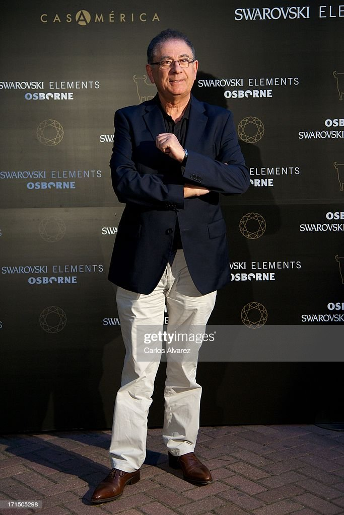 Spanish designer Roberto Verino attends Swarovski-Osborne Bull illumination at the Casa America on June 25, 2013 in Madrid, Spain.