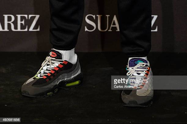 Spanish designer shoes detail David Delfin attends the new Suarez Jewelry Boutique on October 14 2015 in Madrid Spain
