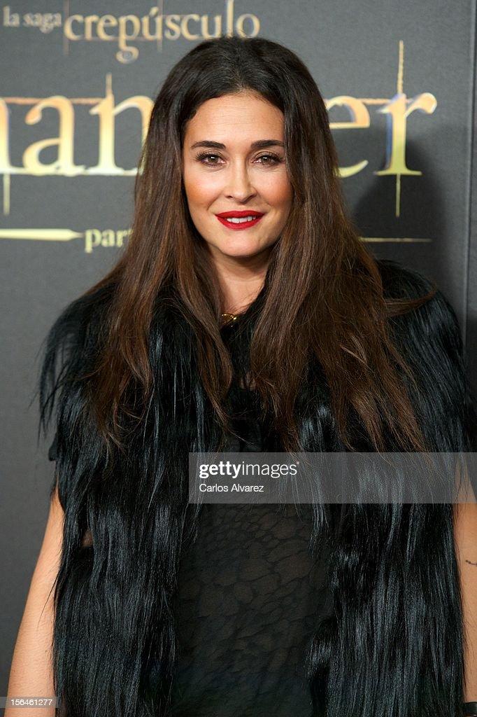 Spanish designer Vicky Martin Berrocal attends the 'The Twilight Saga: Breaking Dawn - Part 2' (La Saga Crepusculo: Amanecer Parte 2) premiere at the Kinepolis cinema on November 15, 2012 in Madrid, Spain.