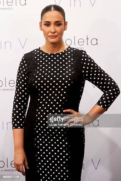 Spanish designer Vicky Martin Berrocal attends to the New Collection of Clothes presentation for Violeta by Mango on March 11 2015 in Madrid Spain