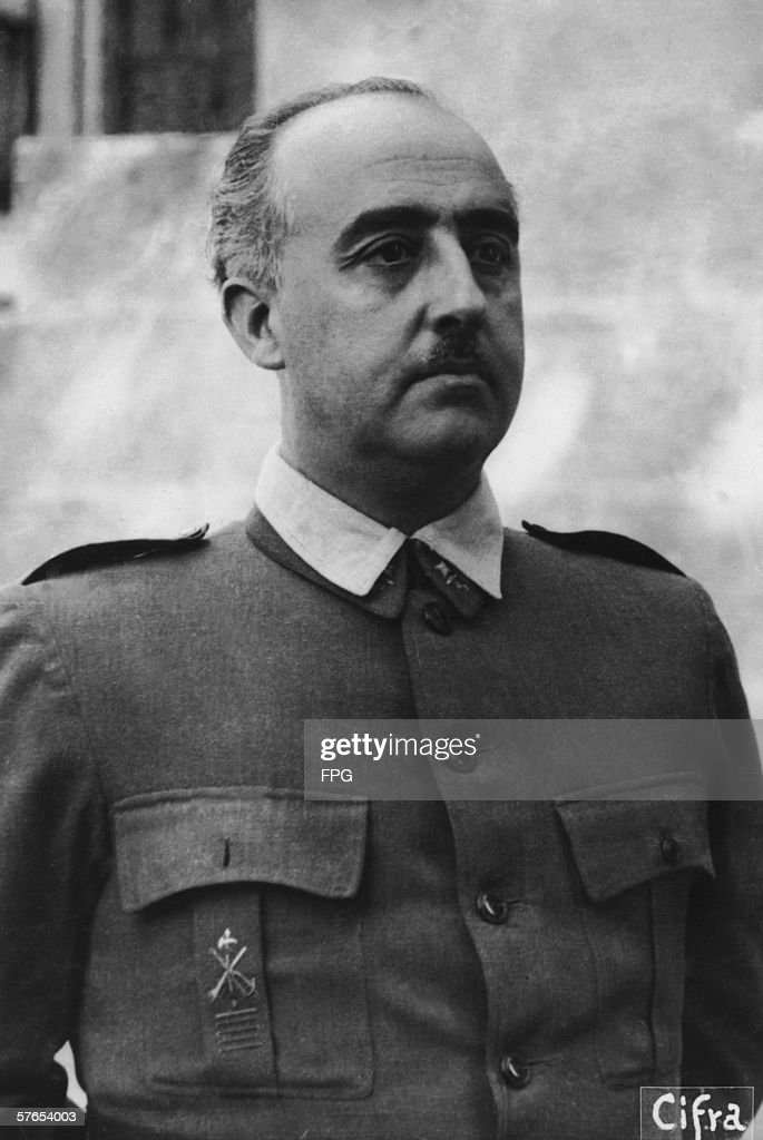 Spanish dictator Generalisimo <a gi-track='captionPersonalityLinkClicked' href=/galleries/search?phrase=Francisco+Franco&family=editorial&specificpeople=190209 ng-click='$event.stopPropagation()'>Francisco Franco</a> (1892 - 1975), circa 1937.
