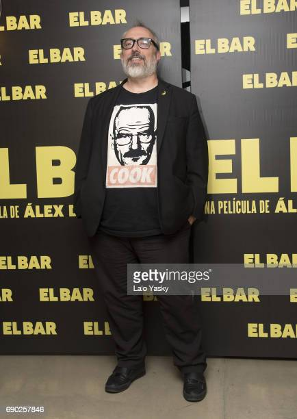 Spanish director Alex de la Iglesia attends a press conference for his latest movie ' El Bar' at the Nuss Hotel on May 30 2017 in Buenos Aires...