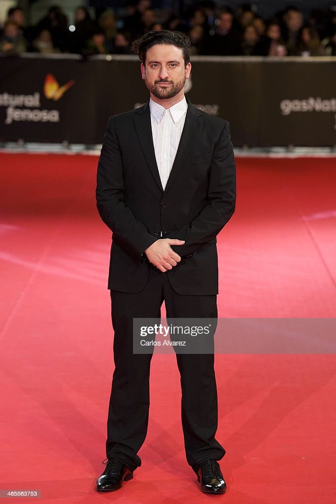 Spanish director <a gi-track='captionPersonalityLinkClicked' href=/galleries/search?phrase=Eugenio+Mira&family=editorial&specificpeople=6740820 ng-click='$event.stopPropagation()'>Eugenio Mira</a> attends the 'Feroz' cinema awards 2014 at the Callao cinema on January 27, 2014 in Madrid, Spain.