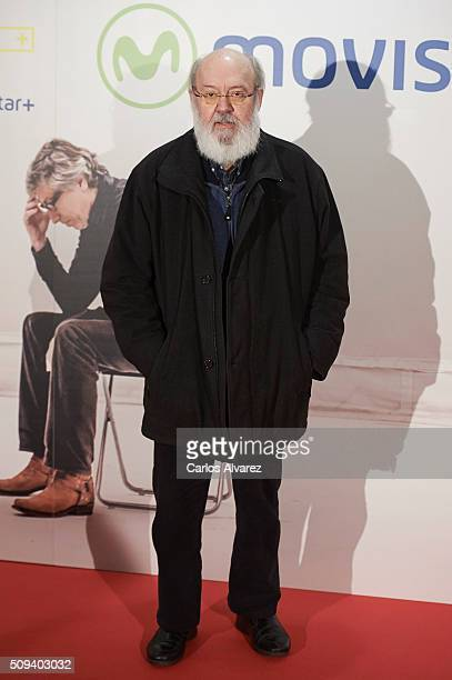 Spanish director Jose Luis Cuerda attends the 'Que fue de Jorge Sanz' premiere at the Proyecciones cinema on February 10 2016 in Madrid Spain