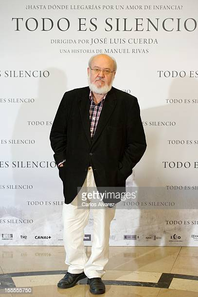 Spanish director Jose Luis Cuerda attends the 'Todo es Silencio' photocall at the Palafox cinema on November 5 2012 in Madrid Spain