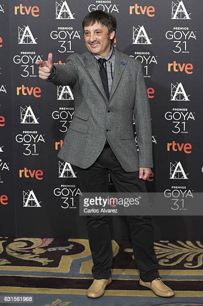 Spanish director Juan Vicente Cordoba attends the Goya cinema awards candidates 2016 cocktail at the Ritz Hotel on January 12 2017 in Madrid Spain