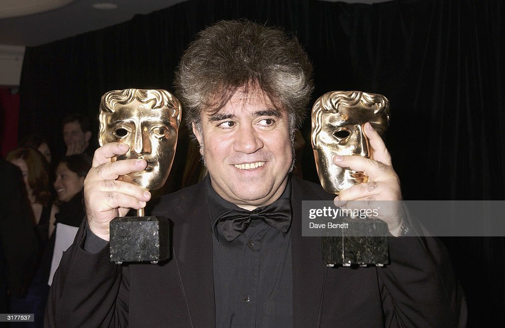 Spanish director Pedro Almodovar attend the after party for the Orange Bafta Awards held at the Grosvenor House Hotel on February 23, 2003 in London.