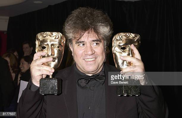 Spanish director Pedro Almodovar attend the after party for the Orange Bafta Awards held at the Grosvenor House Hotel on February 23 2003 in London