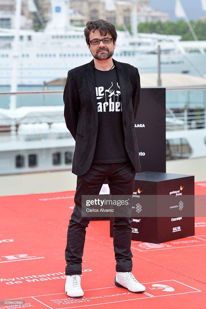 Spanish director Pedro Barbero attends 'El Futuro Ya No Es Lo Que Era' photocall during the Malaga Film Festival on April 29, 2016 in Malaga, .