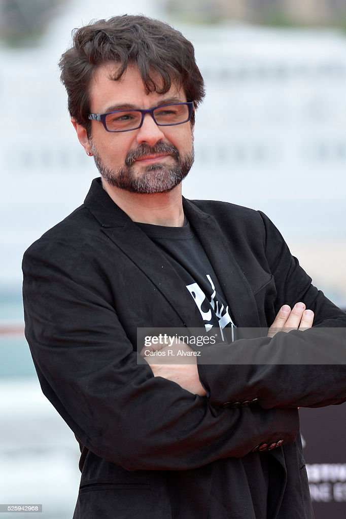 Spanish director Pedro Barbero attends 'El Futuro Ya No Es Lo Que Era' photocall during the Malaga Film Festival on April 29, 2016 in Malaga, .