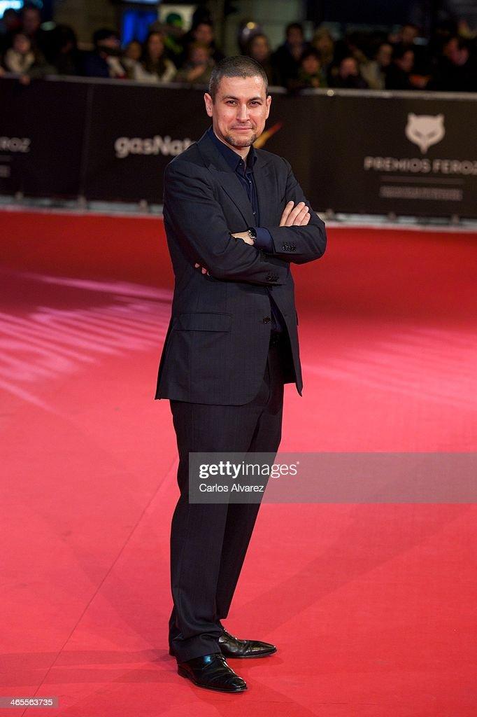 Spanish director Rodrigo Cortes attends the 'Feroz' cinema awards 2014 at the Callao cinema on January 27, 2014 in Madrid, Spain.