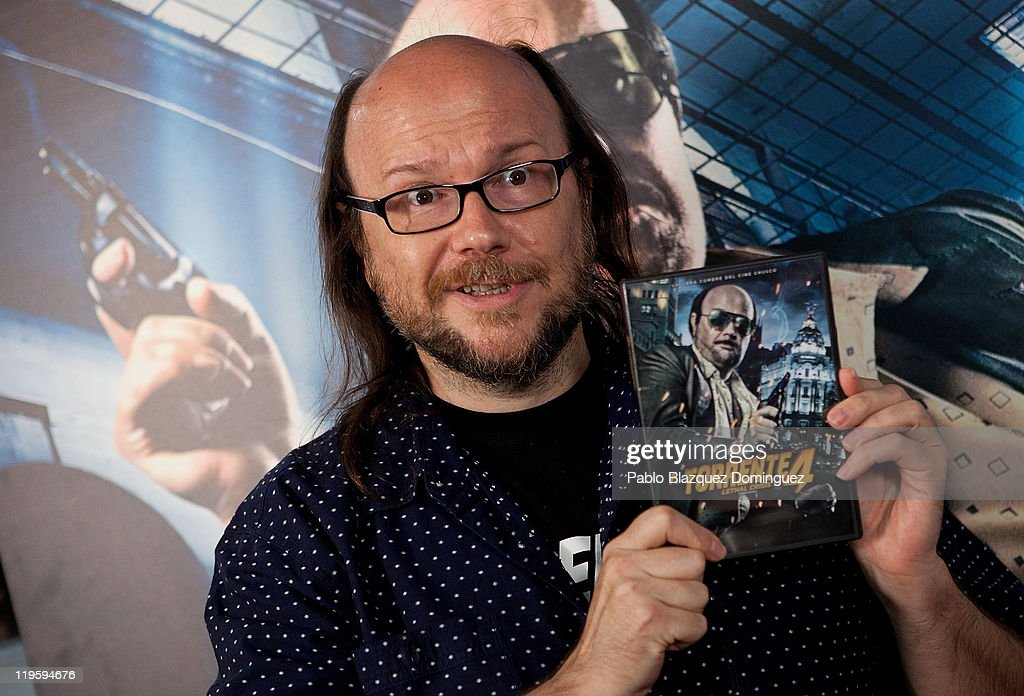 Spanish director Santiago Segura presents 'Torrente 4 Lethal crisis' in Bluray at Fnac on July 22 2011 in Madrid Spain