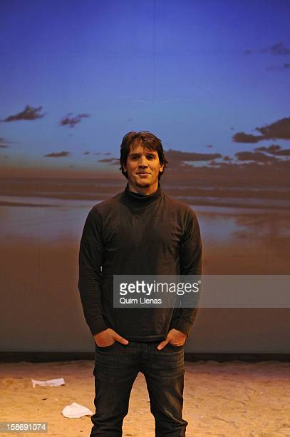 Spanish director Sergio PerisMencheta poses for a photo shoot after the dress rehearsal of Shakespeare's 'La Tempestad' on stage at Naves del Espanol...